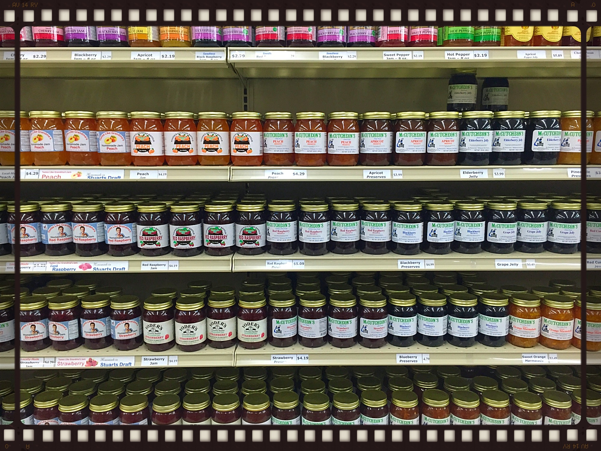 Jams Selection at The Cheese Shop